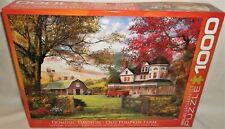 Eurographics 1000 Piece Jigsaw Puzzle Old Pumpkin Farm Dominic Davison Complete
