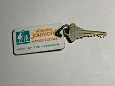 Howard Johnson's Motor Hotel Motel Room Key Fob with Key Ridgefield Park N.J.