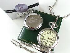 HMP PRISON Crested Silver Pocket Watch Jail Warden Officer Luxury Gift Case
