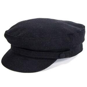 Failsworth Hats Mariner Melton Wool Cap - Black