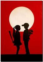"BANKSY STREET ART CANVAS PRINT love hurts 8""X 12"" stencil poster red"