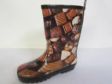 Scarpe stivali per bambini dai 2 ai 16 anni marrone da infilare