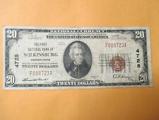 1929 $20The First National Bank Of Wilkinsburg,Pennsylyania