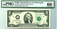 $2 DOLLARS 2003 STAR NOTE MINNEAPOLIS 1937  I * LUCKY MONEY $350