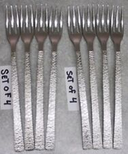Mid Century STUDIO VINERS of SHEFFIELD England Stainless Steel SALAD FORKS