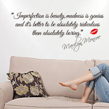 Imperfection Is Beauty-Marilyn Monroe Vinyl Wall Decal Sticker Art Quote NEW