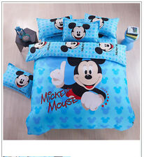 NEW DISNEY MICKEY MOUSE 3D TWIN BEDDING DUVET QUILT COVER SET 100% COTTON