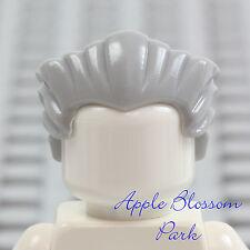 NEW Lego Minifig Slicked-back GRAY HAIR w/Widows Peak -Grandpa Old-Man Head Gear