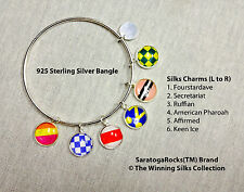 Winning SIlks™ Charm Bracelet - 925 Sterling Silver -6 Charms+FREE Horse Charm