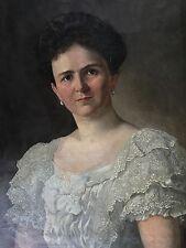 1.v.2 Biedermeier Porträt Ottilie Schreitter von Schwarzenfeld Wien Graz A. 1908