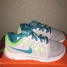 GIRLS NIKE FREE 5.0 RUNNING SHOES YOUTH SIZE 11 C GRAY / TURQUOISE NIB