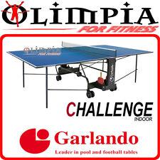 Garlando TAVOLO PING PONG (tennis tavolo) x INTERNO - CHALLENGE INDOOR piano BLU