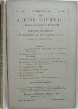 1894 ALPINE JOURNAL 126 A RECORD OF MOUNTAIN ADVENTURE  & SCIENTIFIC OBSERVATION