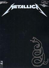 METALLICA - BLACK GUITAR TAB MUSIC BOOK - KIRK HAMMETT
