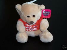 """PARTIES WELL WITH OTHERS"" BIG FAT ATTITUDE TEDDY BEAR"