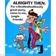 ACE VENTURA Pet Detective Invitations (8) ~ Vintage Birthday Party Supplies Blue