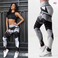 Damen Stretch Leggings Sporthose Yoga Gym Fitnesshose Sport Jogginghose Leggins
