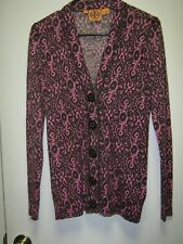 Tory Burch Multi-Color Cardigan Style Lightweight Button Up Sweater Top, sz S