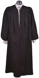 Black Graduation Gown - University Academic Bachelors Robe Matte Quality Luxury!