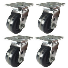 "4"" x 2"" Heavy Duty ""Phenolic wheel"" Caster - 4 Swivels"