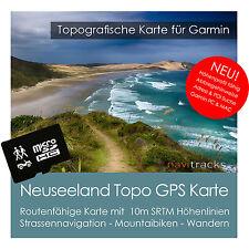 Neuseeland Topo Karte 10m Höhenlinien 4GB microSD für Garmin Navi, PC & MAC