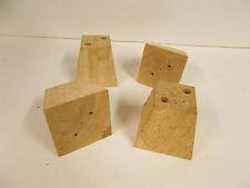 "Set of 4 Unfinished Bun Feet / Legs 3 "" Furniture Parts Building or Repair"