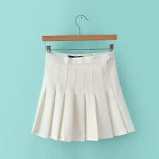 Korean Womens High Waist School Girls Pleated Tennis Skater Mini Skirts Shorts