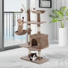 Cat Tree Scratching 135cm Scratcher Activity Playing Center Climb Post Bed Sisal