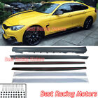 M Sport Performance Style Side Skirts (PP) Fit 15-20 BMW F36 4-Series Gran Coupe