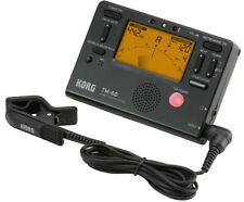 Korg TM-60C Combo Tuner Metronome & Clip on Contact Microphone - Black
