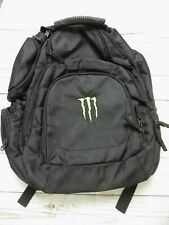 New Monster Energy Drink Promo Backpack Padded Laptop Black Bag Heavy Duty
