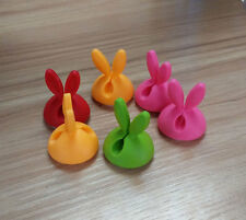 6PC Rabbit Cable Drop Clip Desk Tidy Organiser Wire Cord Lead USB Charger Holde