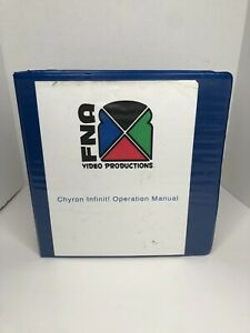 Chyron Infinit! Products Operation Manual 1999 Binder VG+ Condition