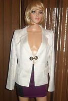 VERSACE collection Long Sleeve white shimmer Blazer Sz 46 us 10 NEW