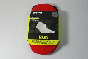 CEP Sportswear Dynamic+ Ultralight Low Socks Size III Mens Medium Red/Green