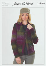 Lakeland Chunky Knitting Pattern Womens Cable Detail Jacket Cardigan JB348