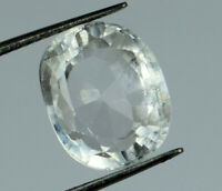 Natural 8.45 Ct White Sapphire Loose Gemstone Oval Transparent AGSL Certified