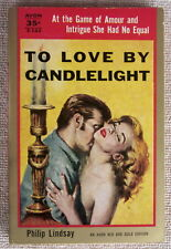 To Love by Candlelight by Philip Lindsay PB Avon T122 1950 35c cover