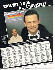 PUBLICITE ADVERTISING 065  1986  HAIRSKIN  perruque capillaire  BERNARD DARNICHE