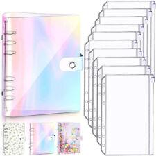 A6 Pvc Notebook Binder Cover Planner Loose Leaf Folder Cash Budget Envelope Us