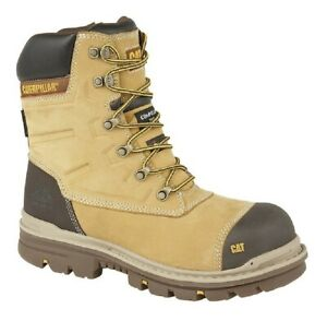 """Mens Caterpillar CT025 Premier 8"""" Waterproof S3 Composite Safety Leather Work Bo"""