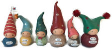 Collection of 6 Bea's Wees Birthday Silly Daddy Figure Natalie Kibbe Enesco