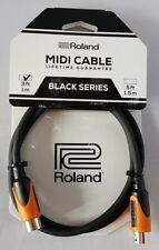 Câble MIDI Roland black series RMIDI-B3 de 1 m (MIDI cable)