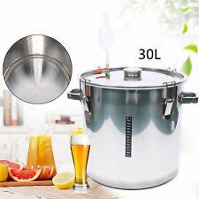 36L Edelstahl - Behälter Fermentation Gärbehälter Gäreimer  Barrel Brew Wein