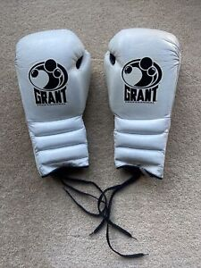 GRANT Professional Boxing Gloves 16oz All White GREAT CONDITION