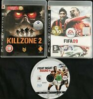 Playstation 3 (PS3) Games Bundle - Killzone 2. FIFA 09, Fight Night Round 4