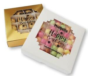 PERSONALISED BIRTHDAY SWEET GIFT BOX PICK AND MIX CUSTOM CLEAR WINDOW ANY NAME