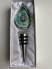 New listing Nib Murano Art Deco Collection Wine Stopper