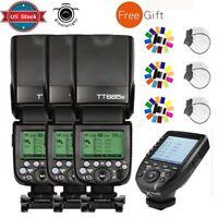 US Godox TT685C 2.4G TTL Flash Speedlite + XPRO-C Wireless Transmitter for Canon