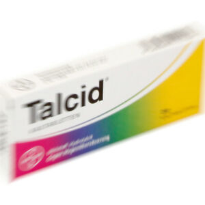 TALCID 40x 500mg Chewable Tablets for Stomach Inflammation,Duodenal Ulcers,Acids